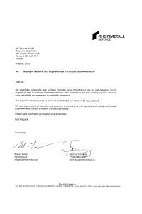 2010: Rheinmetall Tecmotiv Engine Endorsement