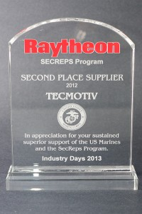2012: Raytheon Second Place Supplier Award